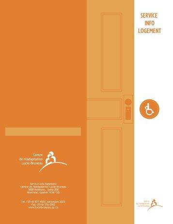 Service info-logement Centre de réadaptation Lucie-Bruneau 3800 ...