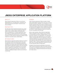 JBoss EntErprisE ApplicAtion plAtform - GovConnection