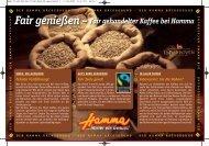 Fair gehandelter Kaffee bei Hamma
