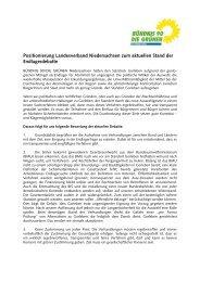 Positionierung Landesverband Niedersachsen zum aktuellen Stand ...