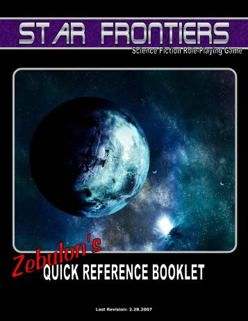 Zebulon's Guide Quic.. - Star Frontiersman