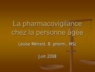La pharmacovigilance chez la personne âgée - aeesicq
