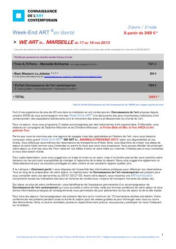 Bulletin d'inscription - Connaissance de l'Art Contemporain
