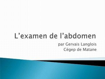 Gervais Langlois, Cégep de Matane : L'examen clinique ... - aeesicq