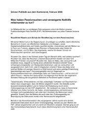 Polittalk Februar 05 - Grüne Kanton St. Gallen