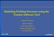 Modeling Welding Processes using the Truchas Software Tool