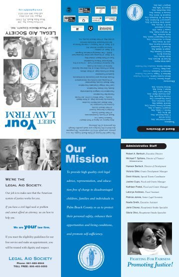 LAS Law brochure 2011 - Legal Aid Society