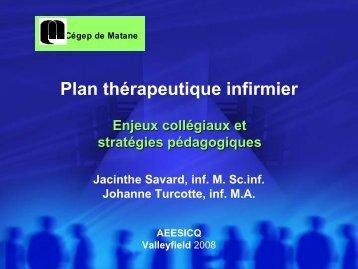 Plan thérapeutique infirmier : Enjeux collégiaux et ... - aeesicq