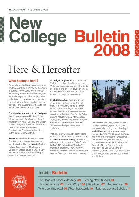 2008 Bulletin (PDF) - University of Edinburgh