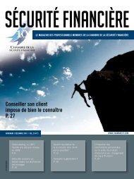 novembre / décembre 2010 | voL. 35 no 5 - Chambre de la sécurité ...