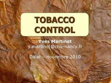 """"""" tobacco control""""?"""