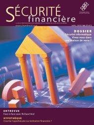 AVRIL 2002 Vol. 27 no 2 - Chambre de la sécurité financière
