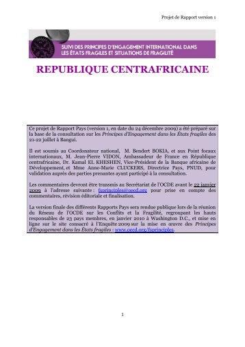 REPUBLIQUE CENTRAFRICAINE - ISSAT