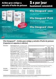 Vita Omeguard® – Acides gras oméga-3 extraits d'huile de poisson