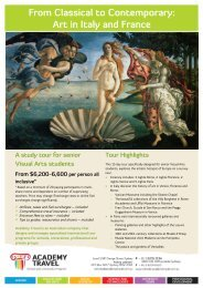 Download the itinerary for this tour (PDF) - Schools and tours
