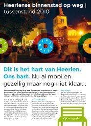 Uitgave tussenstand centrumplan 2010 - Gemeente Heerlen