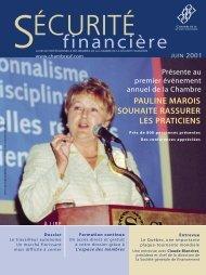 juin 2001 - Chambre de la sécurité financière