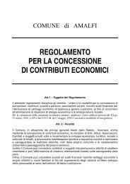 regolamento per la concessione di contributi ... - Comune di Amalfi