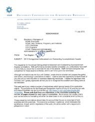 Request for 2013 Nominations - UCAR Finance & Administration