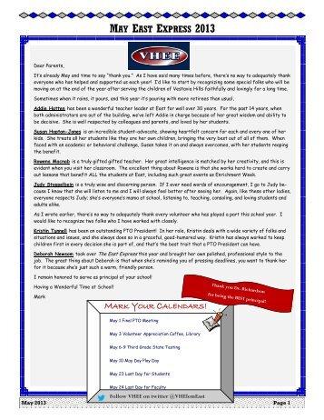 Newsletter - Vestavia Hills City Schools
