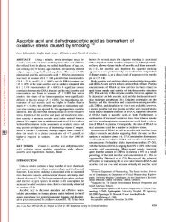 Ascorbic acid and dehydroascorbic acid as biomarkers of ... - CPNC