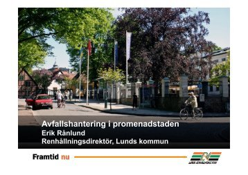 Erik Rånlund, Lunds Renhållningsverk - Avfall Sverige