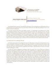 politique fiscale - Dictionnaire encyclopédique de l'administration ...