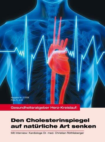 Den Cholesterinspiegel auf natürliche Art senken - Vita Health Care ...