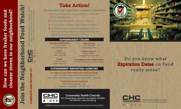 Expired Foods Brochure - Community Health Councils