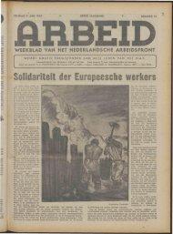 Arbeid (1943) nr.15 - Vakbeweging in de oorlog