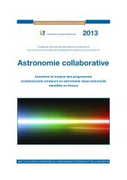 Sciences participatives en astronomie ou collaboration - Association ...