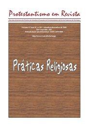 Protestantismo em Revista, volume 17 (Ano 07, n.3) - Faculdades EST