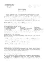 Mathematisches Institut Universität Tübingen Rainer Nagel Vera ...