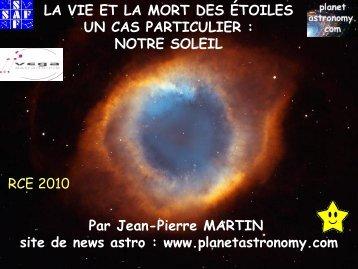 Jean-Pierre MARTIN www.planetastronomy.com