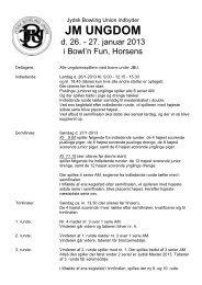 JM Ungdom 2013 indbydelse - Jydsk Bowling Union