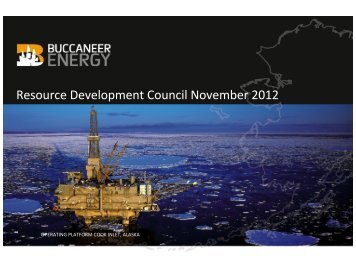 Resource Development Council November 2012