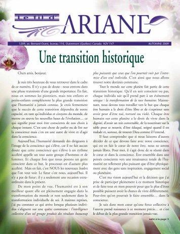 Une transition historique - Ariane