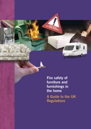 Fire safety of furniture and furnishings in the home A ... - Vitafoam Ltd
