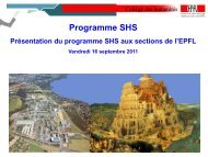 Séance d'accueil (PDF) - CDH - EPFL