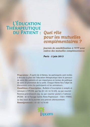 L'Éducation Thérapeutique du Patient - Ipcem