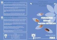 Le programme (pdf - 0.56 Mo) - Ipcem