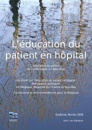 Version francophone « L'éducation du patient en hôpital - Centre d ...