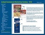 School Customized Marketing Catalog - 2013 - Walsworth Yearbooks