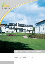 Qualitätsbericht der Klinik Dreizehnlinden, Bad Driburg
