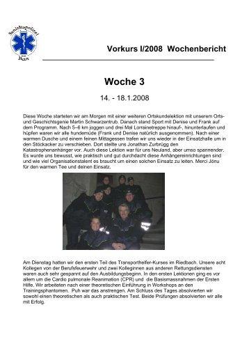 Woche 3 - auf sano-ausbildung.ch