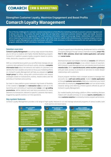 Comarch Loyalty Management Leaflet