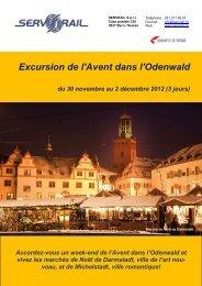 Excursion de l'Avent dans l'Odenwald du 30 novembre ... - SERVRail