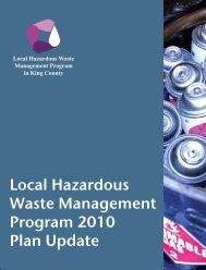 Executive Summary & Table of Contents - Local Hazardous Waste ...