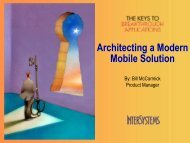 Architecturing a modern Mobile solution - InterSystems Benelux
