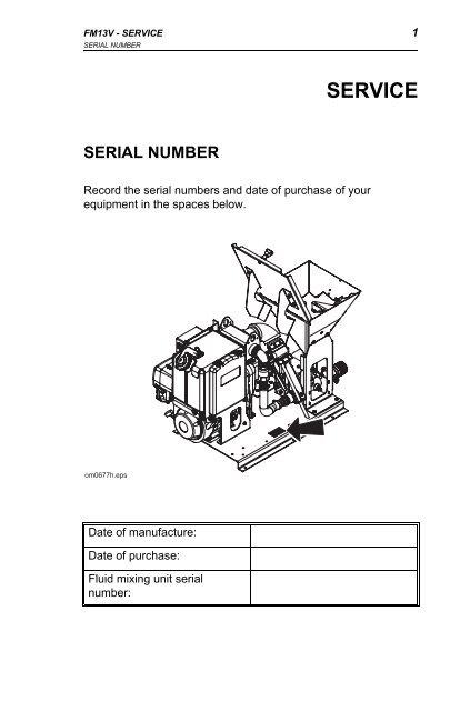 Ditch Witch fm13v operators manual